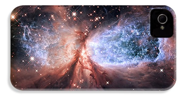 IPhone 4 Case featuring the photograph Celestial Snow Angel - Enhanced - Sharpless 2-106 by Adam Romanowicz