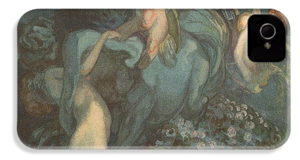 Centaur Nymphs And Cupid IPhone 4 / 4s Case by Franz von Bayros