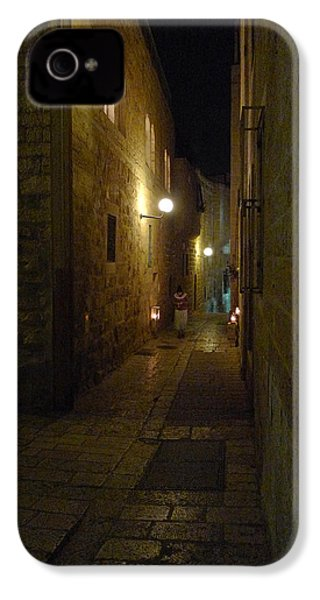 IPhone 4 Case featuring the photograph Chanukah At The Old City Of Jerusalem by Dubi Roman
