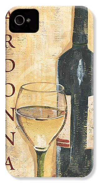 Chardonnay Wine And Grapes IPhone 4 Case by Debbie DeWitt