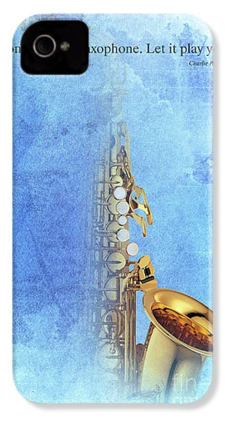 Charlie Parker Saxophone Vintage Poster And Quote, Gift For Musicians IPhone 4 / 4s Case by Pablo Franchi