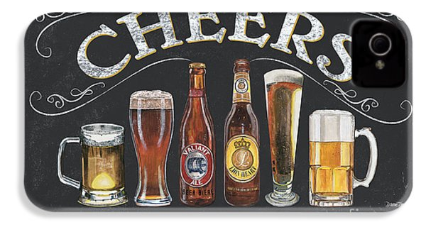 Cheers  IPhone 4 Case by Debbie DeWitt