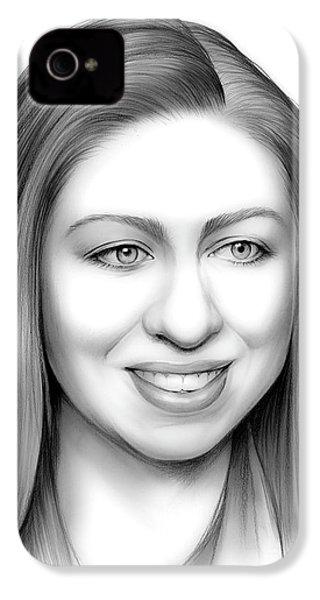 Chelsea Clinton IPhone 4 Case by Greg Joens