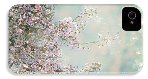IPhone 4 Case featuring the photograph Cherry Blossom Dreams by Linda Lees
