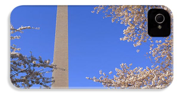 Cherry Blossoms And Washington IPhone 4 Case by Panoramic Images