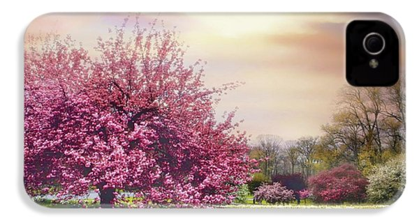 IPhone 4 Case featuring the photograph Cherry Orchard Hill by Jessica Jenney