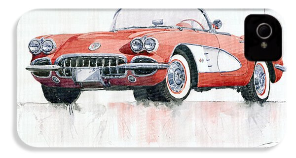 Chevrolet Corvette C1 1960  IPhone 4 Case by Yuriy  Shevchuk