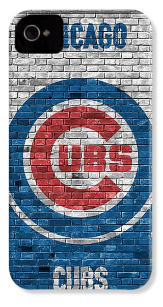 Chicago Cubs Brick Wall IPhone 4 Case by Joe Hamilton