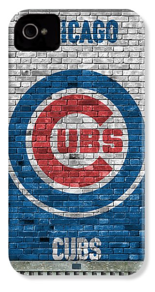 Chicago Cubs Brick Wall IPhone 4 / 4s Case by Joe Hamilton