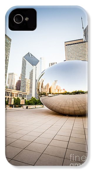 Chicago Gloud Gate And Chicago Skyline Photo IPhone 4 Case by Paul Velgos