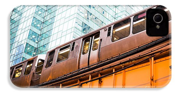 Chicago L Elevated Train  IPhone 4 Case by Paul Velgos