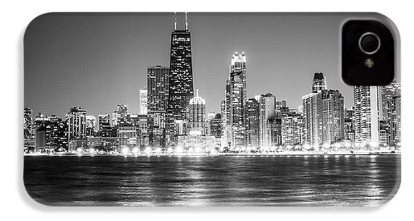 Chicago Lakefront Skyline Black And White Photo IPhone 4 / 4s Case by Paul Velgos