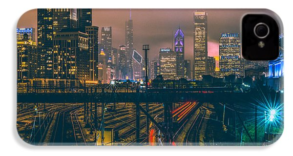 Chicago Night Skyline  IPhone 4 Case by Cory Dewald