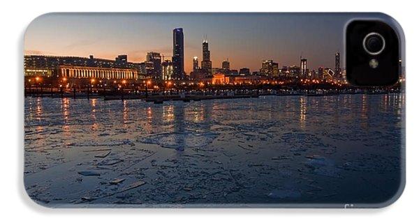 Chicago Skyline At Dusk IPhone 4 / 4s Case by Sven Brogren