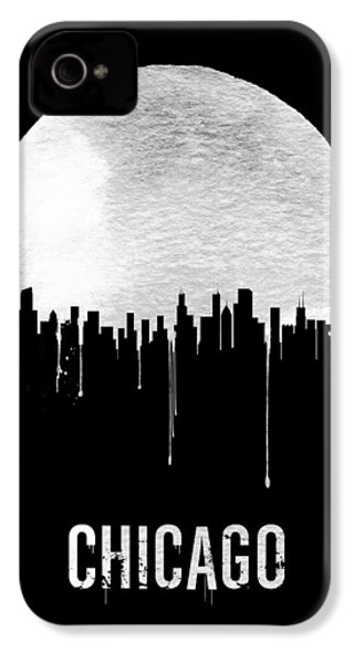 Chicago Skyline Black IPhone 4 Case by Naxart Studio