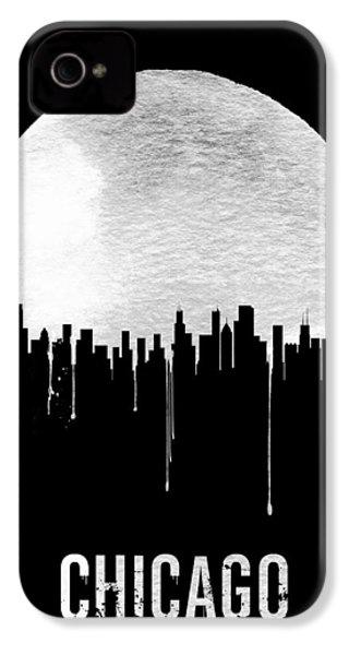 Chicago Skyline Black IPhone 4 Case by Naxart Studio