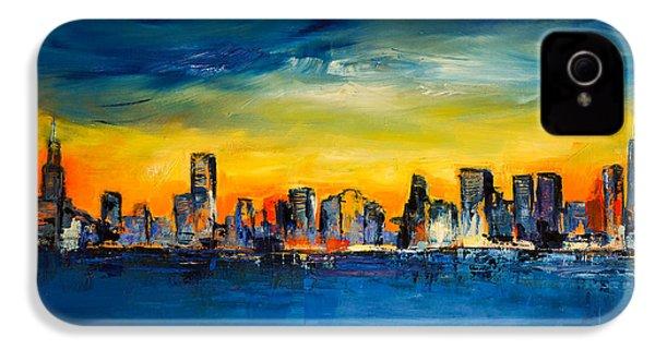 Chicago Skyline IPhone 4 Case by Elise Palmigiani