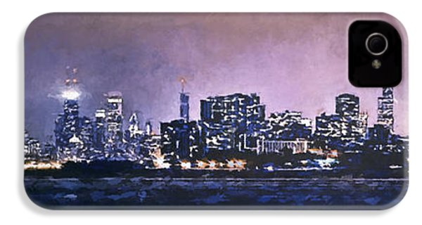 Chicago Skyline From Evanston IPhone 4 / 4s Case by Scott Norris