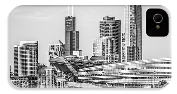 Chicago Skyline With Soldier Field And Willis Tower  IPhone 4 Case