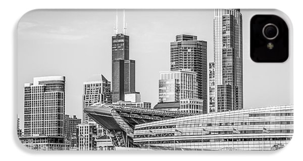 Chicago Skyline With Soldier Field And Willis Tower  IPhone 4 / 4s Case by Paul Velgos