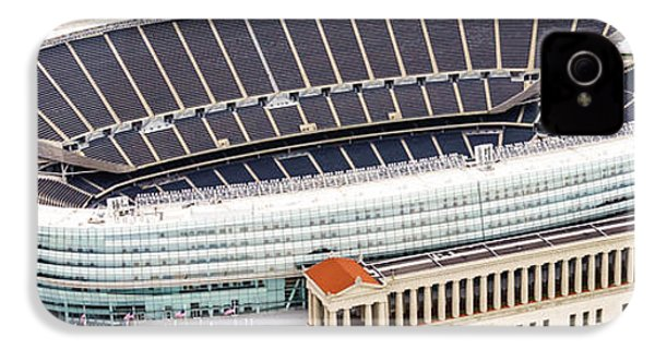Chicago Soldier Field Aerial Photo IPhone 4 / 4s Case by Paul Velgos