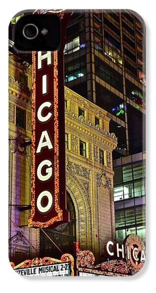 Chicago Theater Aglow IPhone 4 Case