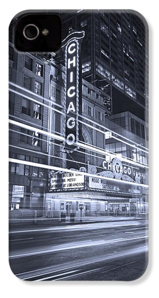 Chicago Theater Marquee B And W IPhone 4 / 4s Case by Steve Gadomski