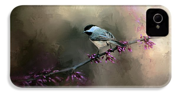 Chickadee In The Light IPhone 4 Case by Jai Johnson