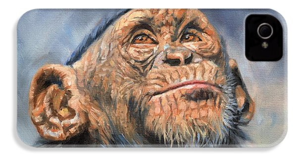 Chimp IPhone 4 Case by David Stribbling