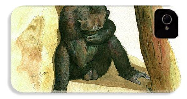 Chimp IPhone 4 / 4s Case by Juan Bosco