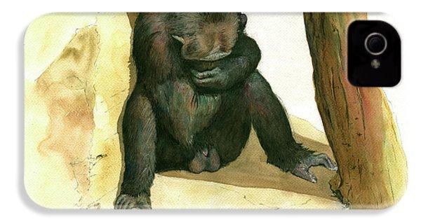Chimp IPhone 4 Case by Juan Bosco