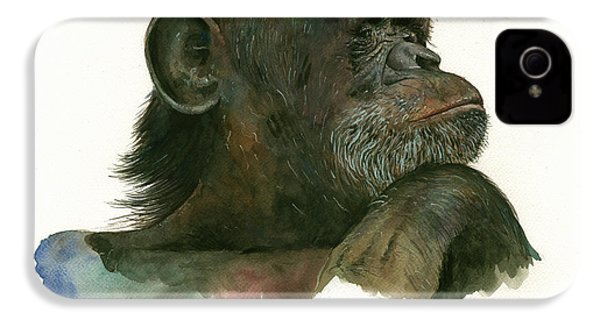 Chimp Portrait IPhone 4 / 4s Case by Juan Bosco