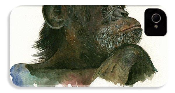 Chimp Portrait IPhone 4 Case by Juan Bosco