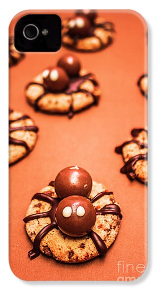 Chocolate Peanut Butter Spider Cookies IPhone 4 / 4s Case by Jorgo Photography - Wall Art Gallery