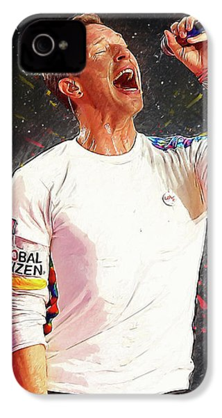 Chris Martin - Coldplay IPhone 4 Case by Semih Yurdabak