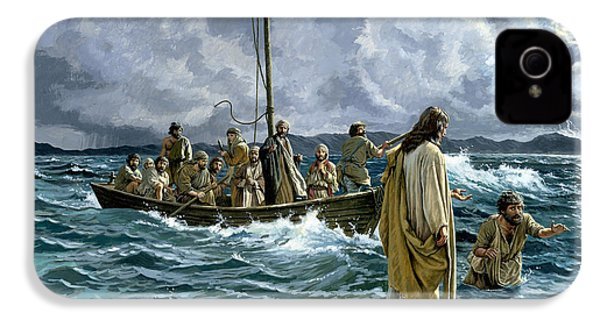 Christ Walking On The Sea Of Galilee IPhone 4 Case