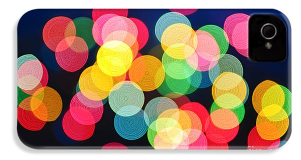 Christmas Lights Abstract IPhone 4 Case