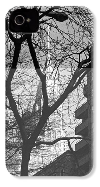 IPhone 4 Case featuring the photograph Chrysler Building And Tree by Dave Beckerman