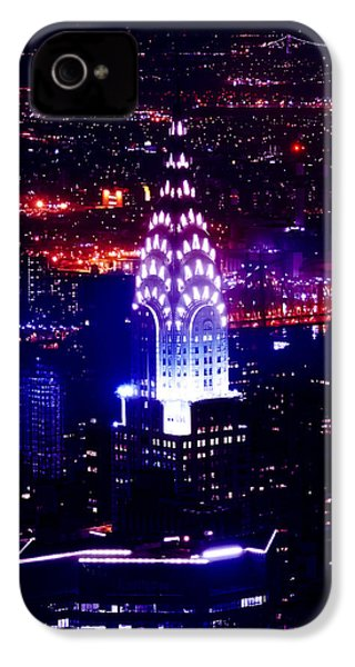 Chrysler Building At Night IPhone 4 Case by Az Jackson