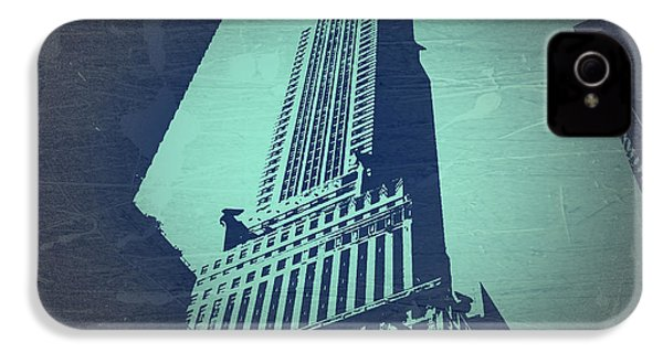 Chrysler Building  IPhone 4 / 4s Case by Naxart Studio