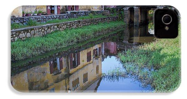 IPhone 4 Case featuring the photograph Chua Cau Reflection by Hitendra SINKAR