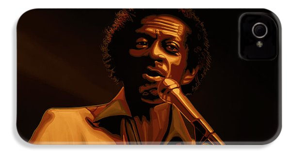 Chuck Berry Gold IPhone 4 Case by Paul Meijering