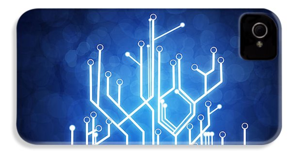 Circuit Board Technology IPhone 4 / 4s Case by Setsiri Silapasuwanchai