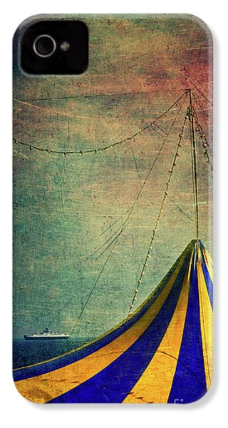 Circus With Distant Ships II IPhone 4 Case by Silvia Ganora