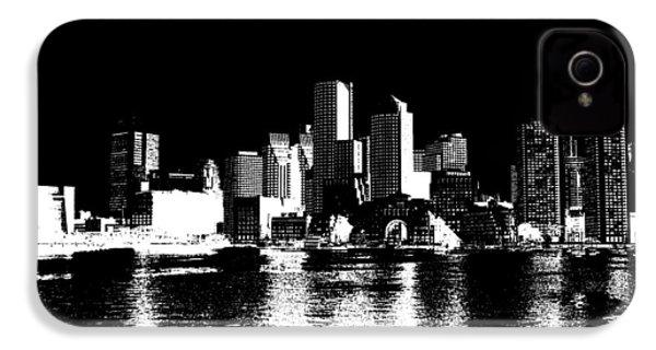 City Of Boston Skyline   IPhone 4 / 4s Case by Enki Art