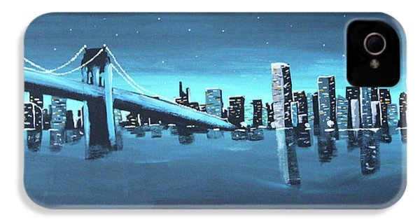 City Skyline IPhone 4 Case by Cyrionna The Cyerial Artist