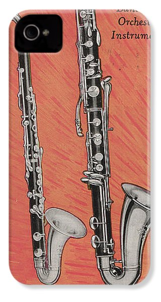 Clarinet And Giant Boehm Bass IPhone 4 Case by American School