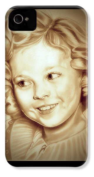 Classic Shirley Temple IPhone 4 Case by Fred Larucci