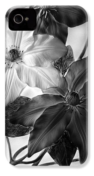 Clematis Overlay IPhone 4 Case by Jessica Jenney