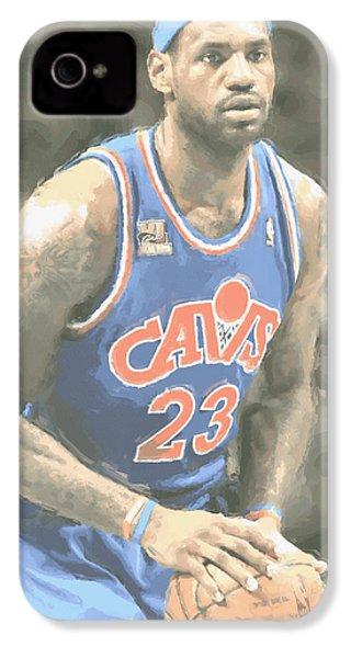 Cleveland Cavaliers Lebron James 1 IPhone 4 / 4s Case by Joe Hamilton